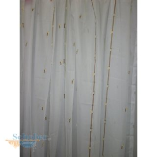 Stores Gardine Vorhang Streifen Weiß Braun Grün Transparen