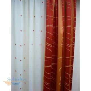 Gut gemocht Musterfenster Vorhang Gardine Fläche Schal Rollo Stores rot terr YM29