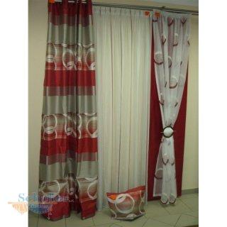 gardinen creme rot pauwnieuws. Black Bedroom Furniture Sets. Home Design Ideas