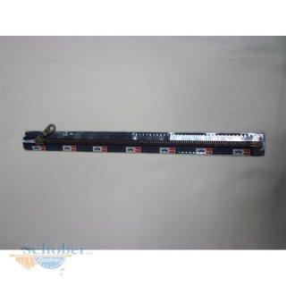 Reißverschluss Metall silber oder brüniert 30-80 cm teilbar Farbe dunkelbraun