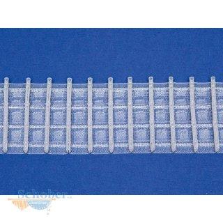 Stiftband Bleistiftband Faltenband breit transparent, Meterware, 2,50