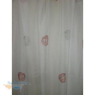 Stores Gardine Stoff Vorhang Kreis Bestickt Weiß Rot Grau Trans