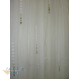 stores gardine stoff vorhang sherley k stchen wei gr. Black Bedroom Furniture Sets. Home Design Ideas