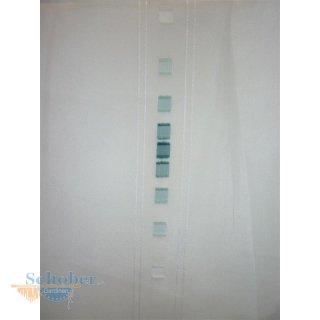 Stores Gardine Stoff Vorhang Sherley Kästchen Weiß Petrol Türkis Transparent Meterware