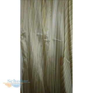 Stores Gardine Stoff Vorhang Streifen beige braun transparent, Restst
