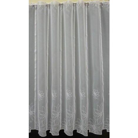 Pannaux Vorhang Scheibengardine Blumen Weiss H 90 Cm Transparent Mete 21 40