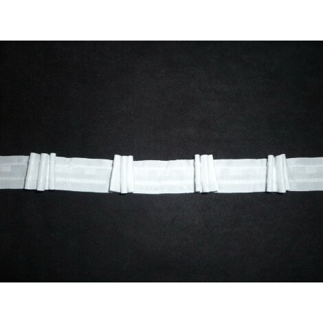 Querband Tunnelband für Fallstäbe Breite 39 mm transparent Meterware