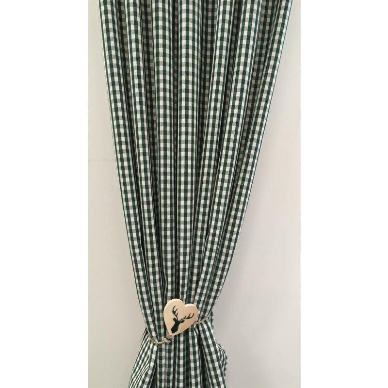 deko stoffe gardine vorhang landhaus karo 6 mm natur gr n blickd. Black Bedroom Furniture Sets. Home Design Ideas