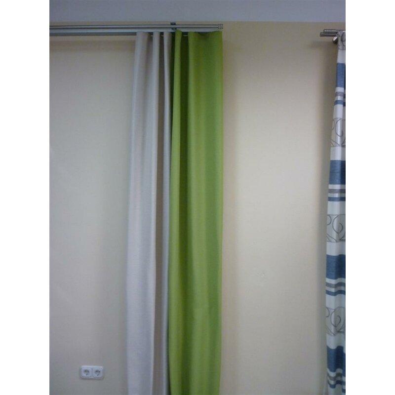 dekoschal gardine vorhang mit wellenband apfel gr n beige abdun. Black Bedroom Furniture Sets. Home Design Ideas
