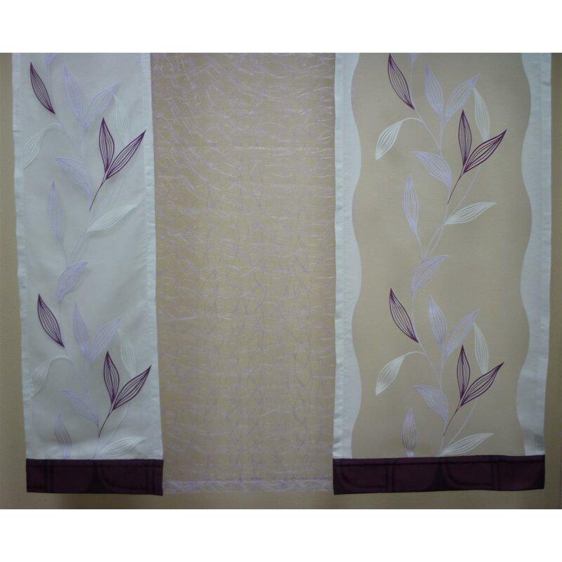musterfenster vorhang gardine fl chen wei lila flieder be. Black Bedroom Furniture Sets. Home Design Ideas