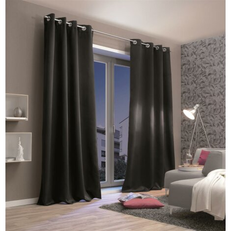 senschal thermo stoff verdunkelnd schwarz 245 x 135 cm 44 95. Black Bedroom Furniture Sets. Home Design Ideas